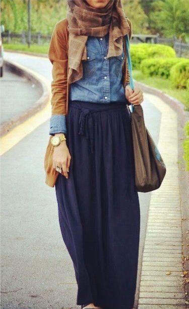 Jean + Maxi Skirt