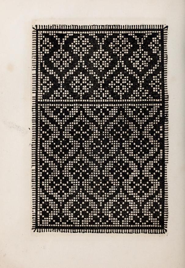 Lace designs for filet crochet ~ Patrons de broderie et de lingerie du XVIe siècle (1872)