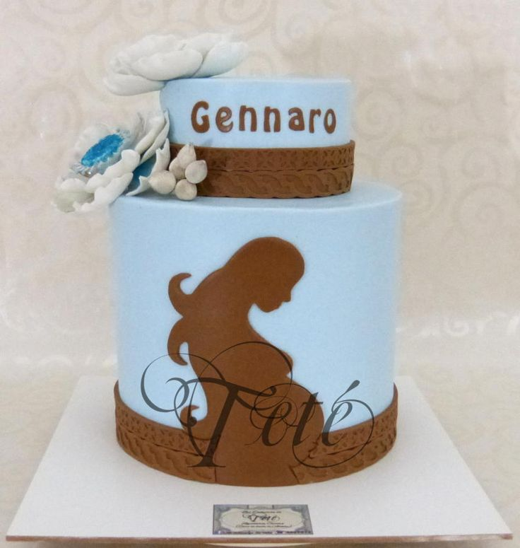 baby shower blue and brown
