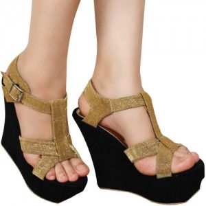 Sepatu Wedges Brigitta Emas SKU Nasahena NH 7761 Size 36-40 IDR254000 heels 9 cm high heels-wedges-ankle strap  More collection--> www.slightshop.com Phone/Whatsapp: +62-89624618831 | Line: SLIGHTshoes | Email: order@slightshop.com
