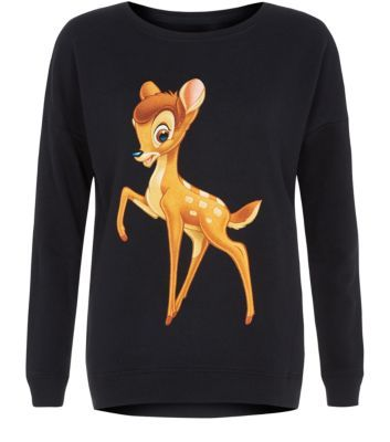 This #retro Bambi sweater is ideal for adding quirky twist on dressed down days - ideal for throwing on with acid wash jeans and #creepers. #newlookfashion #disney