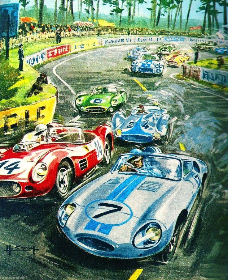 1960 24 Hours Le Mans France Automobile Race Car