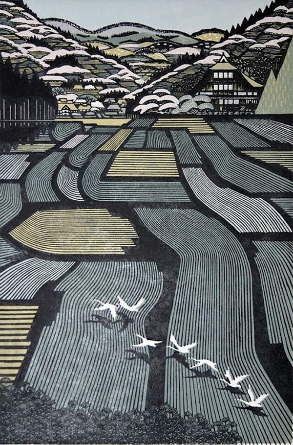 Beautiful Japanese Art    Works by Ray Morimura, a Japanese painter and woodblock printmaker.