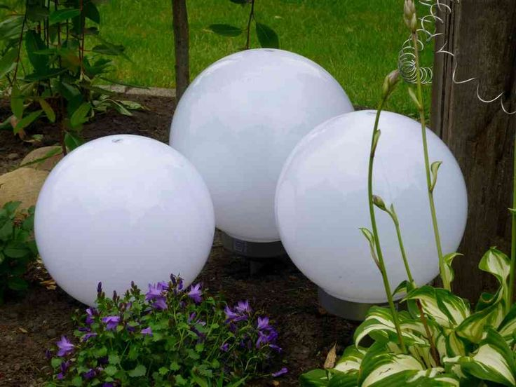 Solar LED Kugelleuchte 3er-Set 30,25,25 cm Gartenkugel Kugel Garten Kugellampe