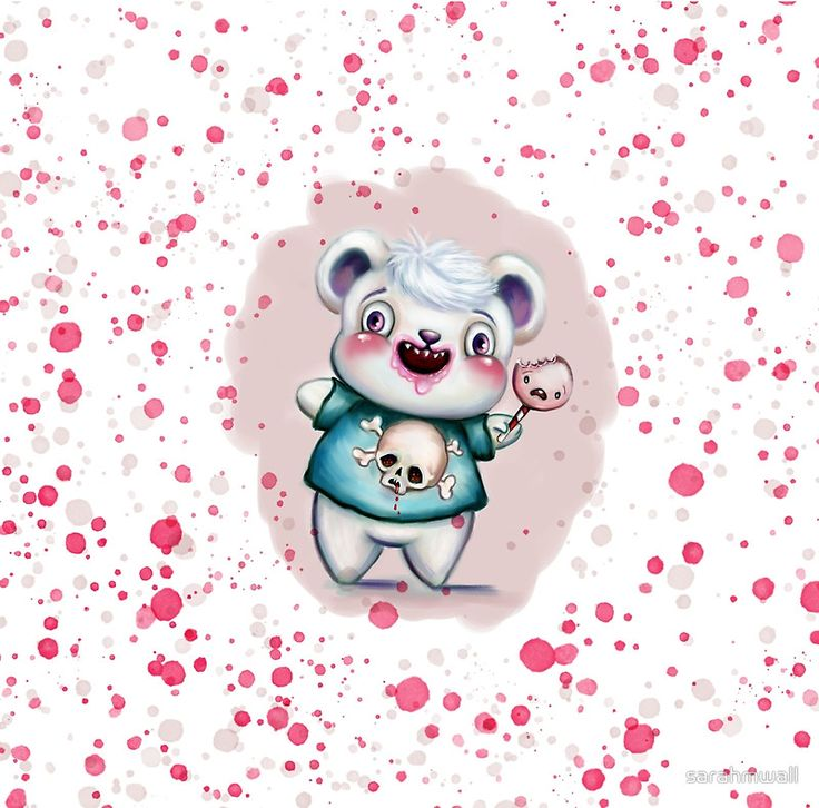 Just added a polkadot edit of my Creepy Candy Bear illustration to my Redbubble store ✏️✨🍭🐻.  Hope you like it ;-)  This creepy little bear dude and his screaming lollipop are available on a-line dresses, duvets, pillows and lots of interior decor items and cool gift thingies ✏️✨🍭🐻.    PS... there's 25% Off Pillows, Tapestries & Duvet covers today when you use code SWEETHOME25 ✏️✨🍭🐻  Find my store at http://sarahmwall.redbubble.com  Find me on Insta…