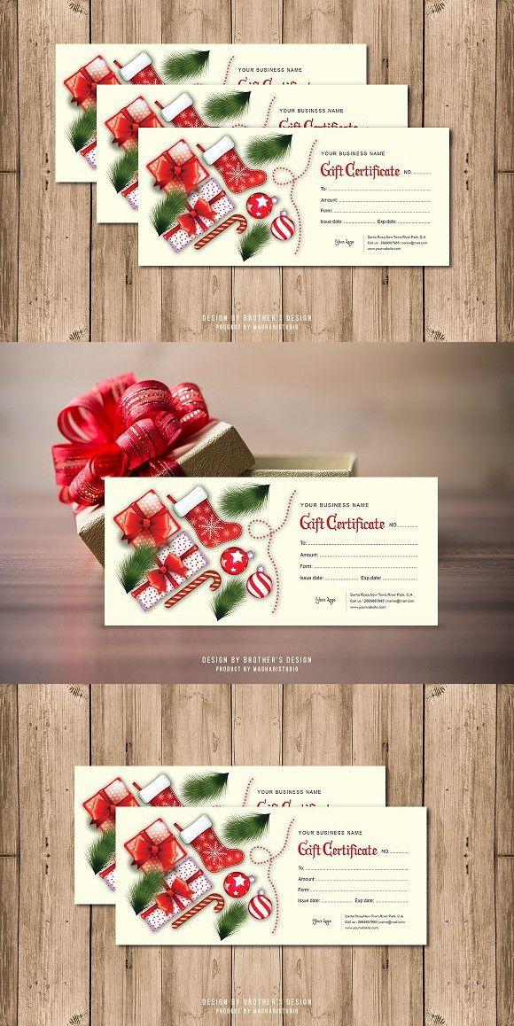 Gift Certificate Card Template. Creative Card Templates