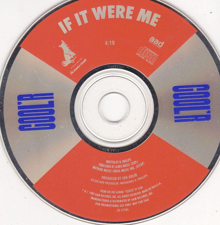 COOL'R / If It Were Me / 1989 A&M Records Promo CD Single / Lou Adler Near Mint