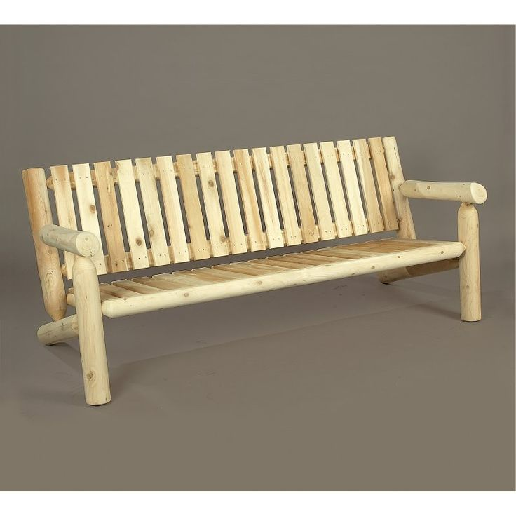 Outdoor Rustic Natural Cedar Furniture 6 Ft. Cedar Wood Settee   07