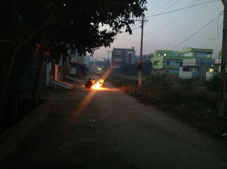 Bhogimanta... A fire made on the very early morning of Bhogi festival day.