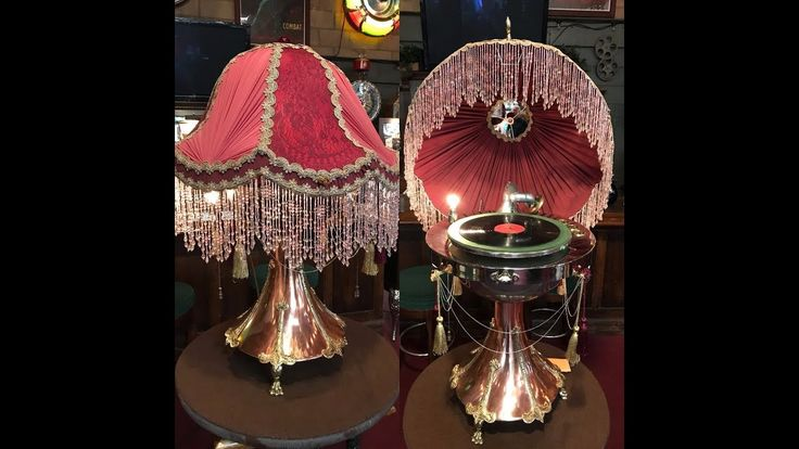 1920's Burns & Pollock Lamp Phonograph Record Player FOR SALE $8,995