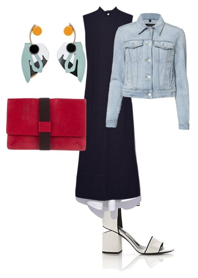 """Black dress"" by fishpinochio on Polyvore featuring Alexander Wang, Marni and J Brand"
