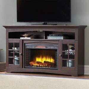 Home Decorators Collection Avondale Grove 59 in. Media Console Infrared Electric Fireplace in Espresso 365-166-48 at The Home Depot - Mobile...