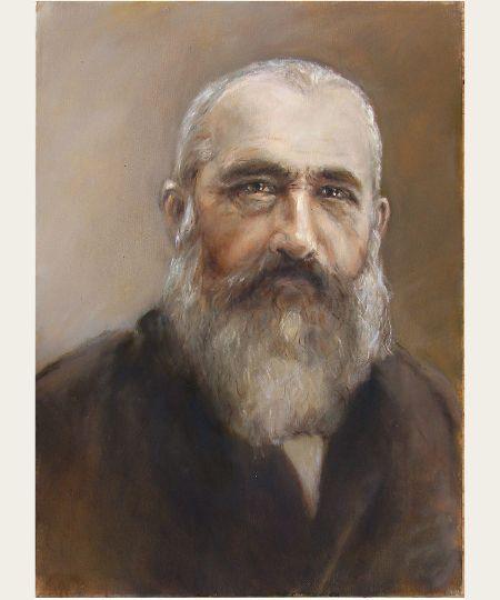 """Lidia Zdzieszyńska, """"Claude Monet"""", oil, 50/70 cm"""