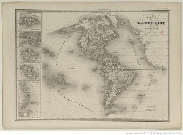 Carte de l'Amérique / dressée par A.-H. Dufour