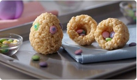 DIY: Robin's Nest and Surprise Egg Rice Krispie Treats!