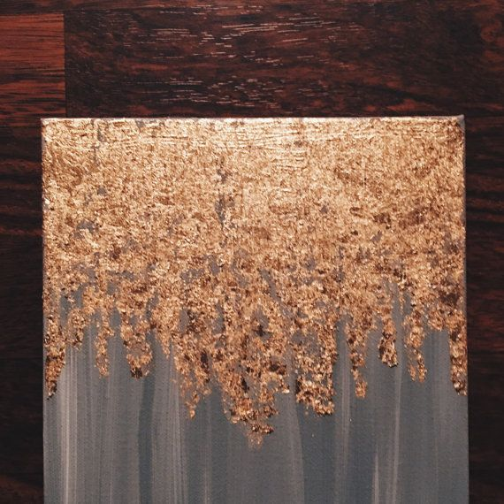 As seen in HGTV magazine gold leaf painting von PaintAndPattern