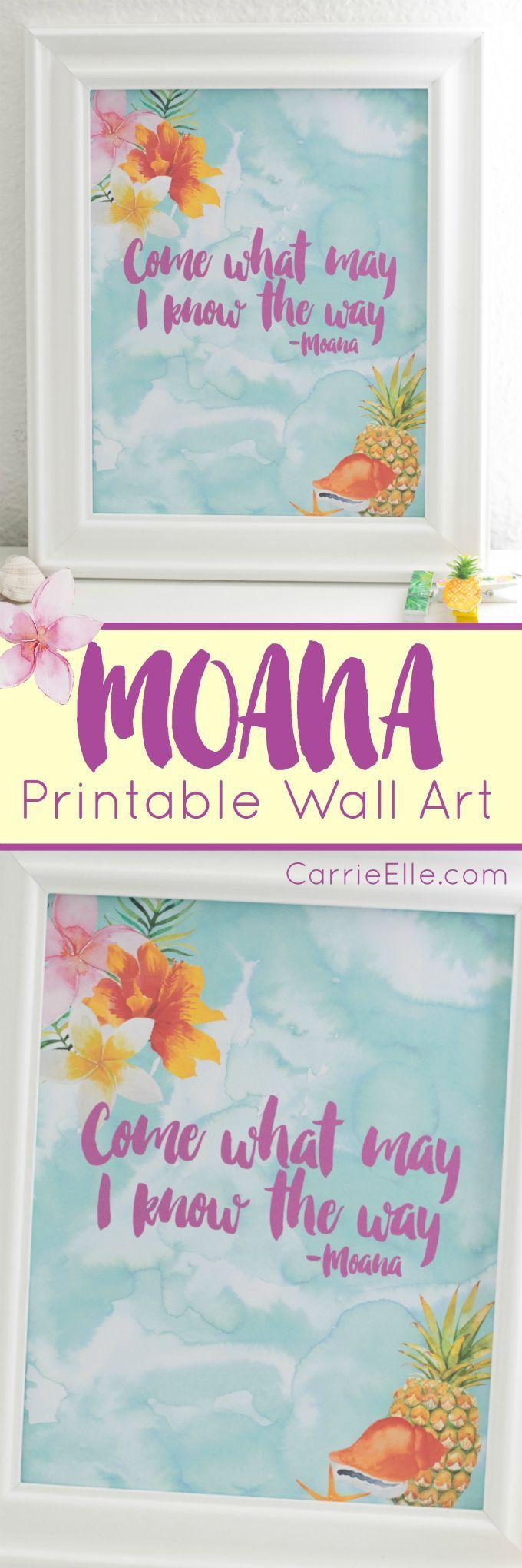 Moana Printable Wall Art (sponsored)