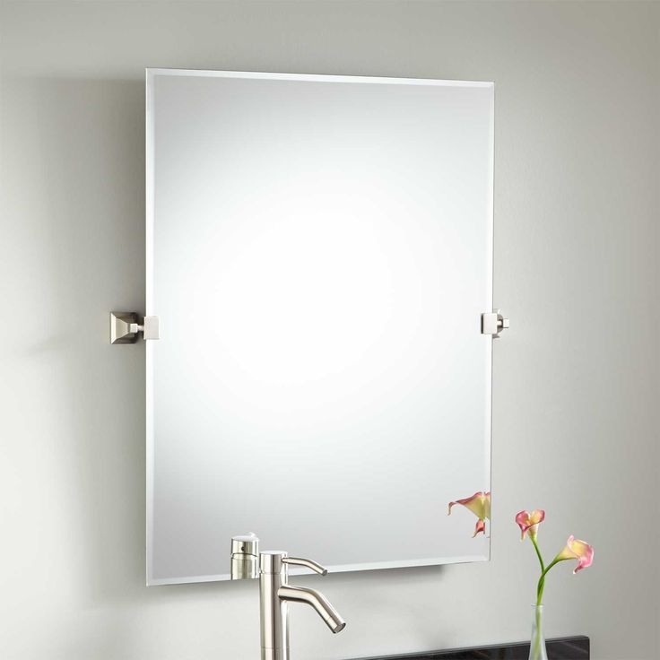 36 Karolynne Rectangular Tilting Mirror Mirror Bathroom