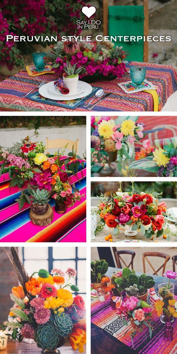 Peruvian - style Centerpieces for your Destination Wedding in Peru