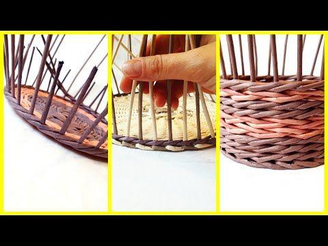 Плетение. 3 способа, как сделать аккуратный переход от дна к стенкам корзины | oblacco