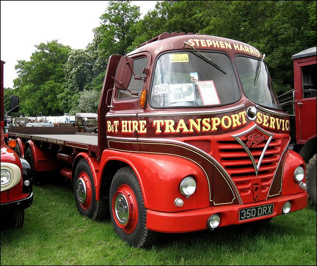 Foden S21, 8 wheeled flatbed lorry