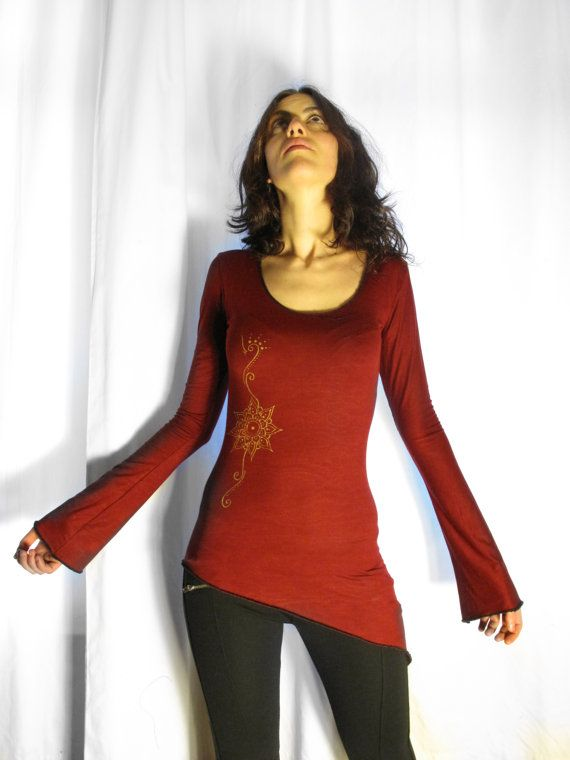 Mandala pull over. top long sleeves. Boho.  by AbstractikaCrafts, £30.00
