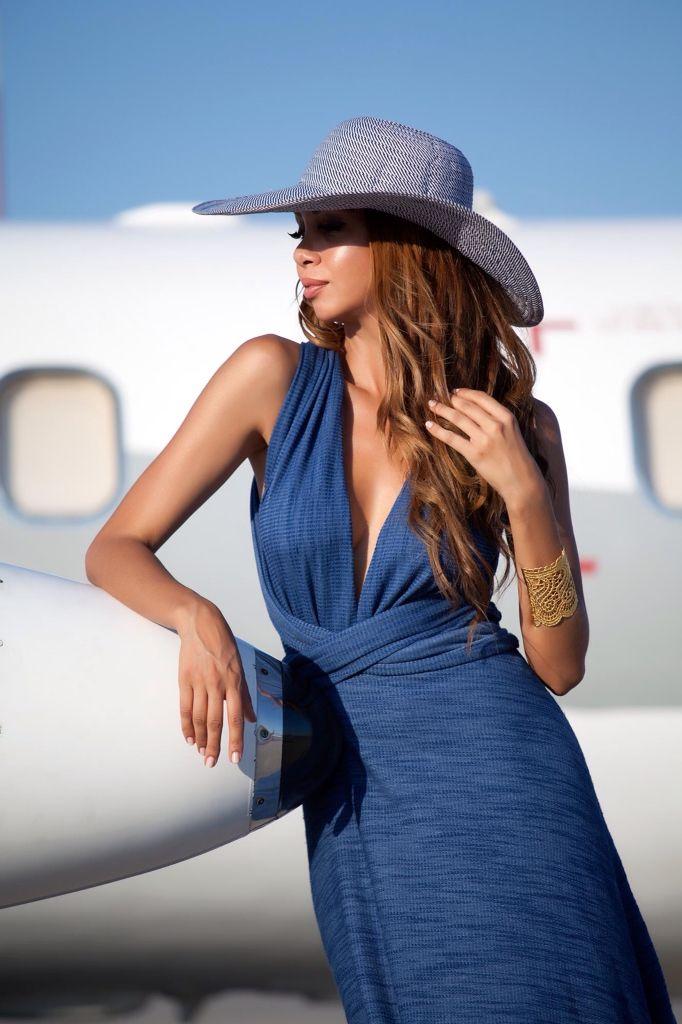 STYLE-RULES presents Fia Fashion Summer 15' open back blue dress
