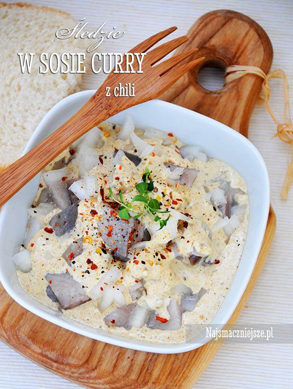 Śledzie curry z chili