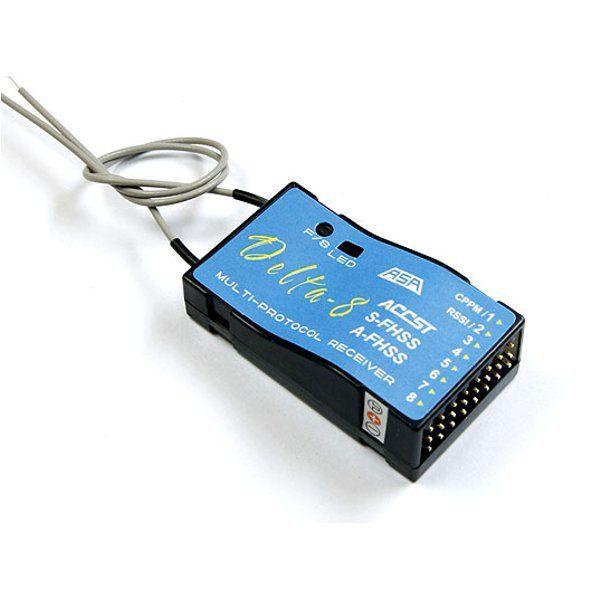 FrSky S-FHSS 8CH Delta-8 Receiver For Futaba T6J T8J 4PL 14SG Transmitter https://www.fpvbunker.com/product/frsky-s-fhss-8ch-delta-8-receiver-for-futaba-t6j-t8j-4pl-14sg-transmitter/    #fpv
