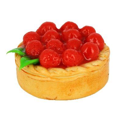 Tarte aux fraises en polymère