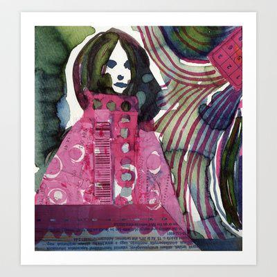 She had a dream Art Print by Zsófi Porkoláb