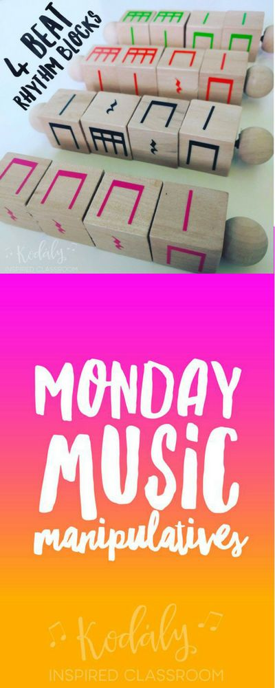 I am so excited to share with you one of my students favorite manipulatives for rhythm practice, 4 Beat Rhythm Blocks.         T...