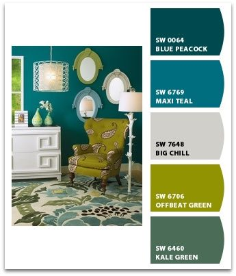10 beautiful color palettes. I like the blue and green. :)