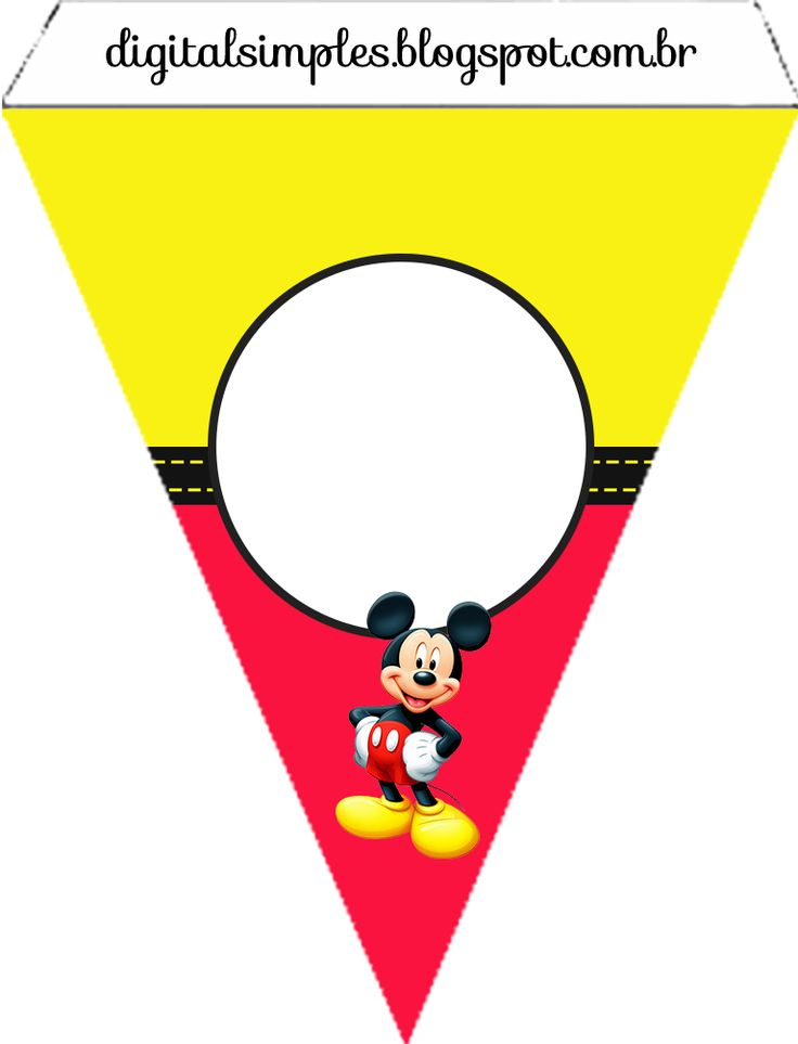 Mickey in Yellow and Red Free Printable Party Kit. | Is it for PARTIES? Is it FREE? Is it CUTE? Has QUALITY? It´s HERE! Oh My Fiesta! in english