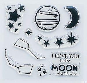 """Moon and stars"" - stamp set #3"