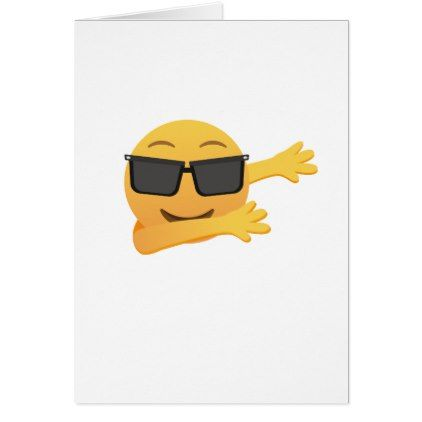 Dabbing Emoji  Funny Birthday Gift  Kids Men Women Card - kids kid child gift idea diy personalize design