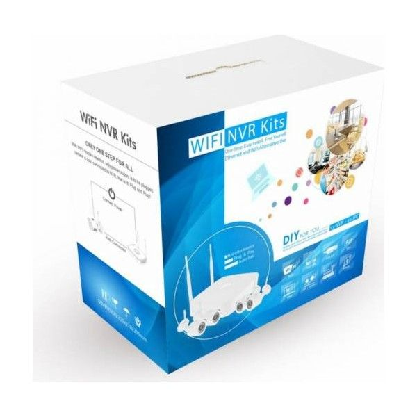 Kit camere supraveghere wireless WIFI complet 4 camere IP+NVR+surse