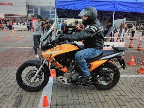 "Мото Джимхана Львов 2017. Honda Transalp 700. rider ""Hondafazer"""