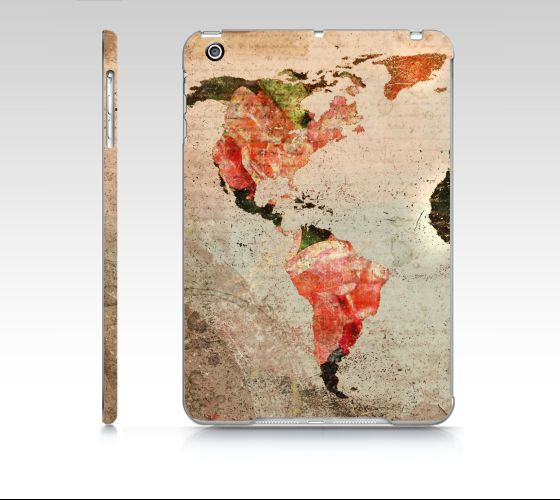 "#ArtOfWhere iPad+mini+""Vintage+world+map""+by+Marosée+Créations"