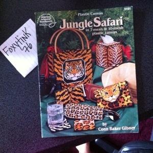 Free Plastic Canvas Books | Free Stuff: Jungle Safari plastic canvas book - Listia.com Auctions ...