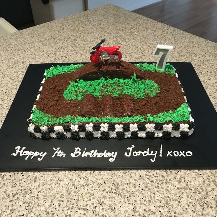 Motorbike track cake #7thbirthday