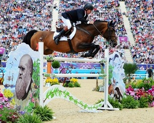 Nick Skelton going for gold in the jump-off