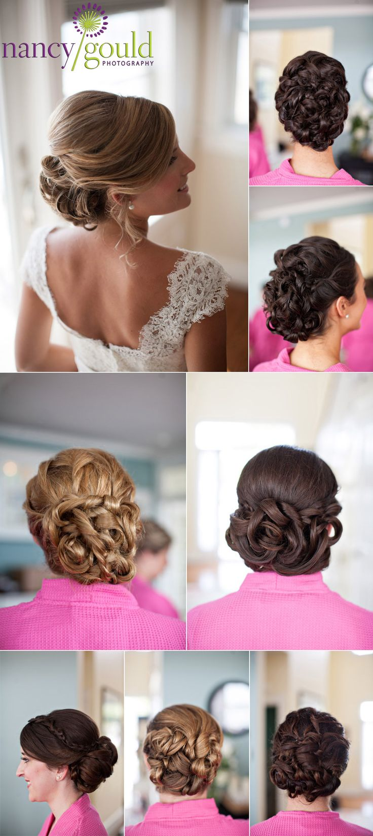 more great wedding hair from Lisa George!