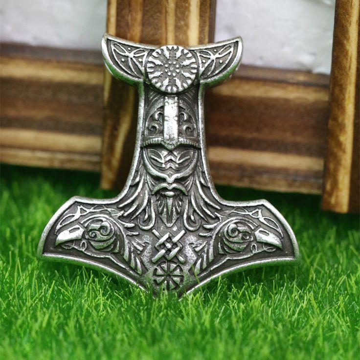 Viking Odin's Hammer Pendant Necklace