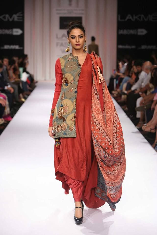 Love the organic look of this very modern piece...DAY 2 - Divya Sheth at Lakme Fashion Week 2014