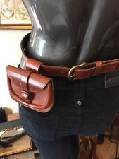 Michael Rose 75 31010 Cognac Brown Leather Fanny Pack Holland Belt Small