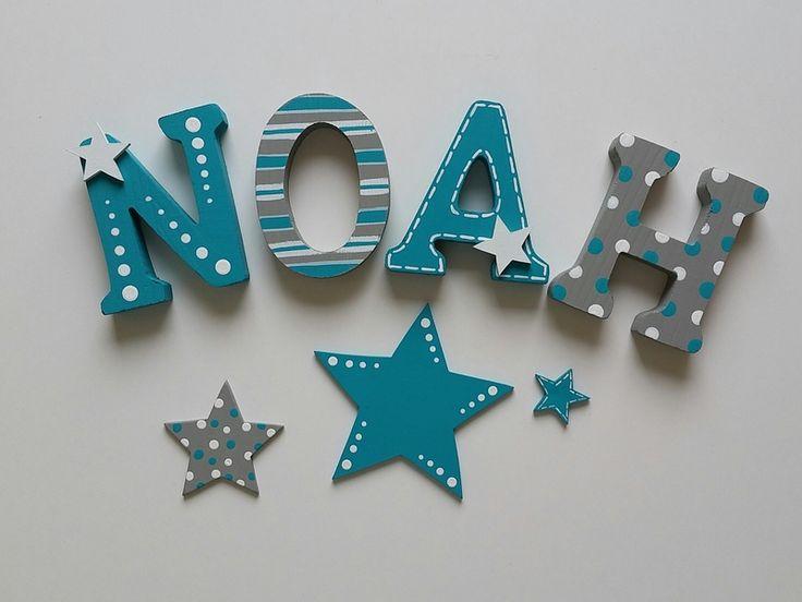 Holzbuchstaben - Holzbuchstaben 8 cm - Farbwunsch - ein Designerstück von Gepettos-Kinderzimmer bei DaWanda
