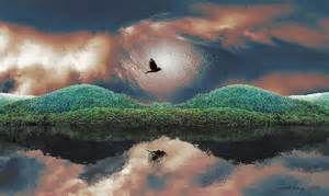 ... River Dream-time Painting - gordon River Dream-time Fine Art Print