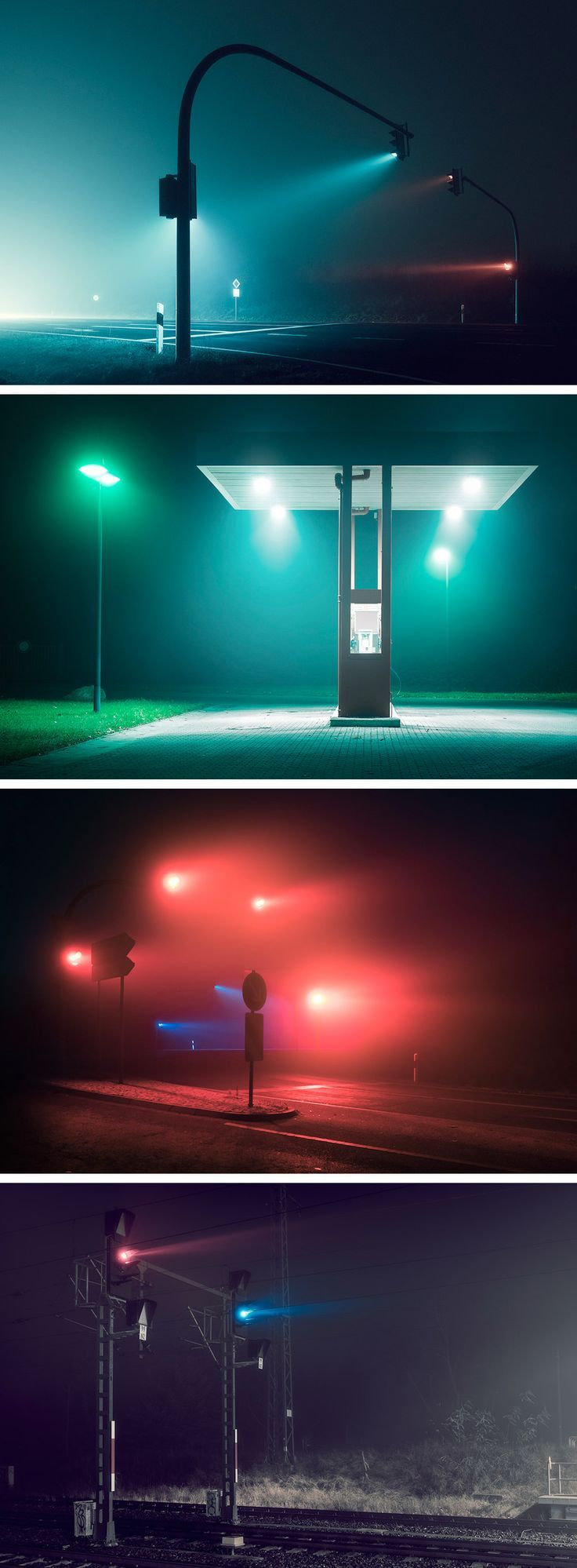 Street photography, urban photography, moddy photography. Photographer Andreas Levers Captures the Hazy Glow of Unpopulated Streets at Night