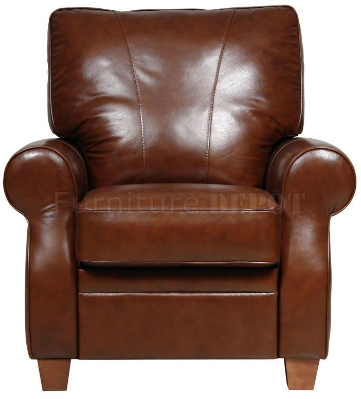 Leather Recliners | Dark Caramel Full Italian Leather Pushback Recliner Chair  sc 1 st  Pinterest & 31 best Recliners images on Pinterest | Recliners Leather ... islam-shia.org